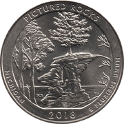 ¼ Dollar ''Washington Quarter'' (Pictured Rocks National Lakeshore, Michigan) -  reverse