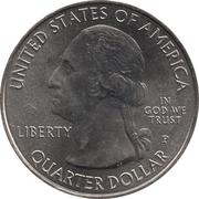 ¼ Dollar ''Washington Quarter'' (Ellis Island (Statue of Liberty National Monument), New Jersey) -  obverse