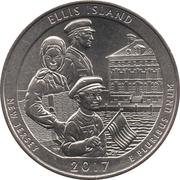 ¼ Dollar ''Washington Quarter'' (Ellis Island (Statue of Liberty National Monument), New Jersey) -  reverse