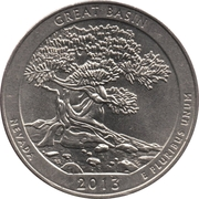 "¼ Dollar ""Washington Quarter"" (Great Basin National Park, Nevada) -  reverse"