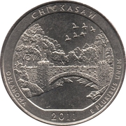 "¼ Dollar ""Washington Quarter"" (Chickasaw National Recreation Area, Oklahoma) -  reverse"