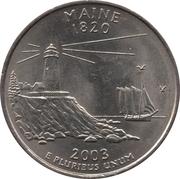 "¼ Dollar ""Washington Quarter"" (Maine) -  reverse"