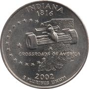 """¼ Dollar """"Washington Quarter"""" (Indiana) -  reverse"""