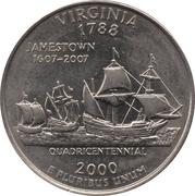 """¼ Dollar """"Washington Quarter"""" (Virginia) -  reverse"""