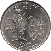 "¼ Dollar ""Washington Quarter"" (Massachusetts) -  reverse"