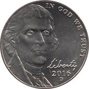"""5 Cents """"Jefferson Nickel"""" (2nd portrait, Return to Monticello) -  obverse"""
