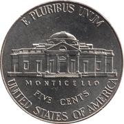 "5 Cents ""Jefferson Nickel"" (2nd portrait, Return to Monticello) -  reverse"
