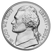 "5 Cents ""Jefferson Nickel"" (Louisiana Purchase) -  obverse"