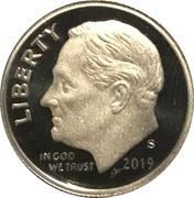 "1 Dime ""Roosevelt Dime"" (Silver Proof) -  obverse"