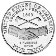 "5 Cents ""Jefferson Nickel"" (Louisiana Purchase) -  reverse"