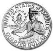 "¼ Dollar ""Washington Quarter"" (Bicentennial, Silver Issue) -  reverse"
