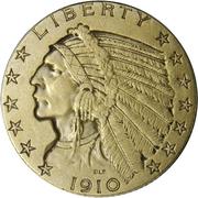 "5 Dollars ""Indian Head"" -  obverse"