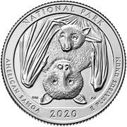 ¼ Dollar ''Washington Quarter'' (National Park of American Samoa) -  reverse