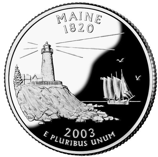 188 Dollar Quot Washington Quarter Quot Maine Silver Proof