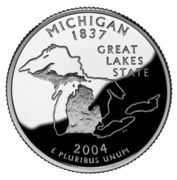 "¼ Dollar ""Washington Quarter"" (Michigan - Silver Proof) -  reverse"