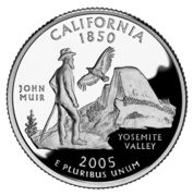 "¼ Dollar ""Washington Quarter"" (California - Silver Proof) -  reverse"