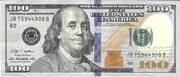 100 Dollars (Federal Reserve Note; colored) – obverse