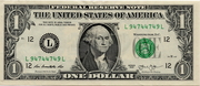1 Dollar (Federal Reserve Note) – obverse