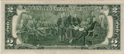 2 Dollars (Federal Reserve Note) – reverse