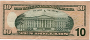 10 Dollars (Federal Reserve Note; colored) – reverse