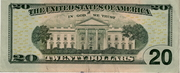 20 Dollars (Federal Reserve Note; colored) – reverse