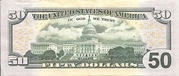 50 Dollars (Federal Reserve Note; colored) – reverse