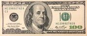 100 Dollars (Federal Reserve Note; large portrait) – obverse