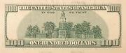 100 Dollars (Federal Reserve Note; large portrait) – reverse