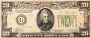 20 Dollars (Federal Reserve Note; Large TWENTY; Branch ID in Letters) – obverse