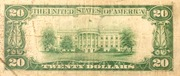 20 Dollars (Federal Reserve Note; Large TWENTY; Branch ID in Letters) – reverse
