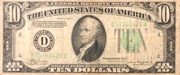10 Dollars (Federal Reserve Note; Large TEN; Branch ID in Letters) – obverse