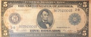 5 Dollars (Federal Reserve Note; Series 1914) – obverse