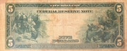 5 Dollars (Federal Reserve Note; Series 1914) – reverse