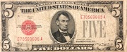 5 Dollars (United States Note; Red Seal left) – obverse