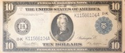 10 Dollars (Federal Reserve Note; Series 1914) – obverse
