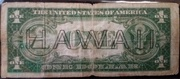 1 Dollar (Silver Certificate; Brown Seal - Hawaii) – reverse