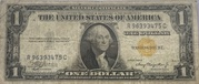 1 Dollar (Silver Certificate; Yellow Seal - North Africa) – obverse