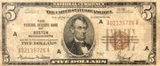 5 Dollars (Federal Reserve Bank Note; Series 1929) – obverse