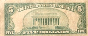 5 Dollars (Federal Reserve Bank Note; Series 1929) – reverse