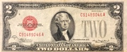 2 Dollars (United States Note; Red Seal left) – obverse