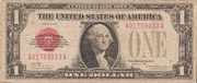 1 Dollar (United States Note; Red Seal left) – obverse
