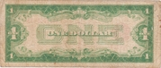 1 Dollar (United States Note; Red Seal left) – reverse
