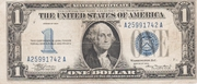1 Dollar (Silver Certificate; Blue Seal and 1) – obverse