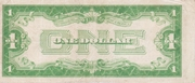 1 Dollar (Silver Certificate; Blue Seal and 1) – reverse