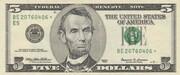 5 Dollars (Federal Reserve Note; large portrait) – obverse