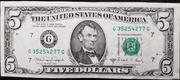 5 Dollars (Federal Reserve Note; small portrait) – obverse