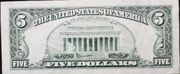 5 Dollars (Federal Reserve Note; small portrait) – reverse