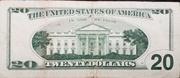 20 Dollars (Federal Reserve Note; large portrait) – reverse