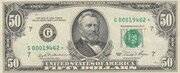 50 Dollars (Federal Reserve Note; small portrait) – obverse