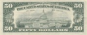 50 Dollars (Federal Reserve Note; small portrait) – reverse